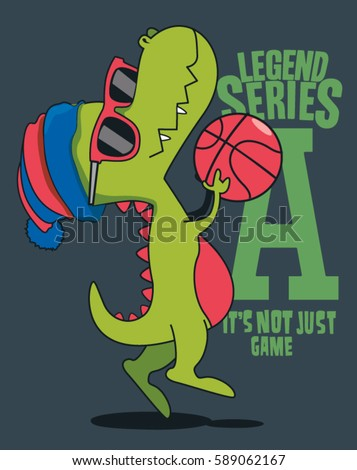 dinosaur  basketball player