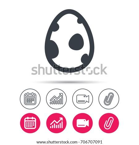 dinosaur egg icon birth symbol