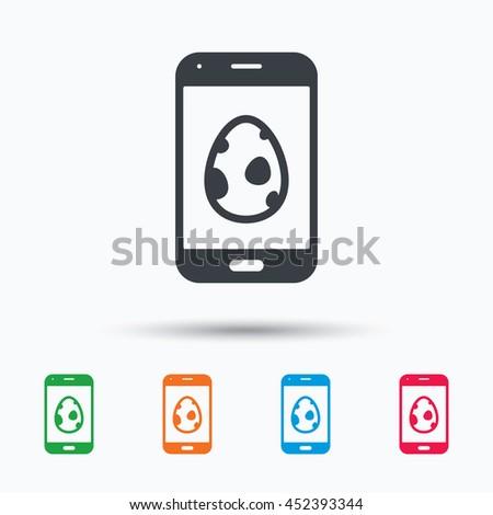 dinosaur egg icon smartphone
