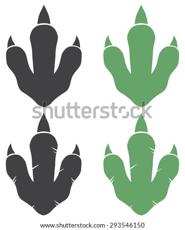 dinosaur footprint vector
