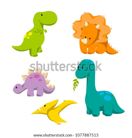 dinosaur icon set