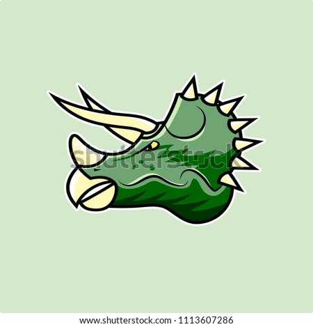 Dinosaur illustration. 100% vector. Ideal for logo's, stickers, flyers, promotions, T-shirts, web design, apps and all other design requirements.