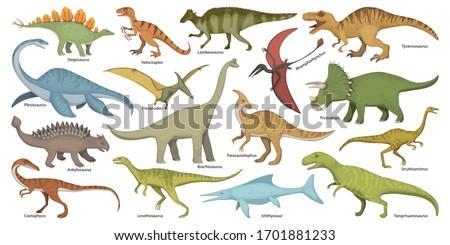 Dinosaur isolated cartoon set icon. Vector cartoon set icon dino animal. Vector illustration dinosaur on white background.