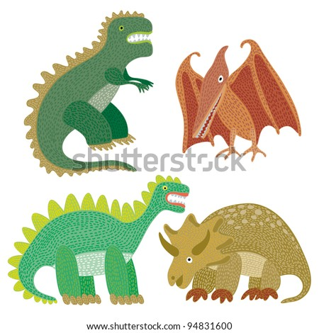 Dinosaur miscellaneous in a kid's appearance