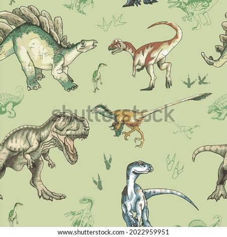 Dinosaur pattern vol.II, baby cloth, Children's fashion Stock fotó ©
