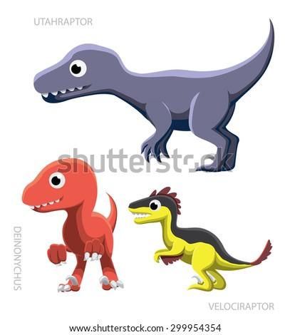 dinosaur raptors vector