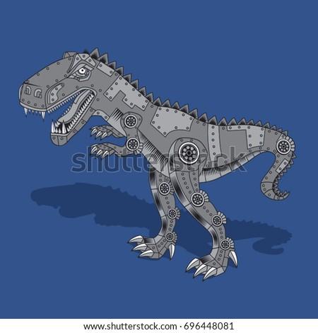 dinosaur robot illustration