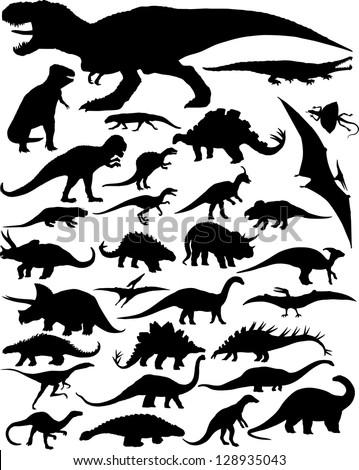 dinosaur silhouettes
