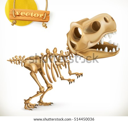dinosaur skeleton cartoon