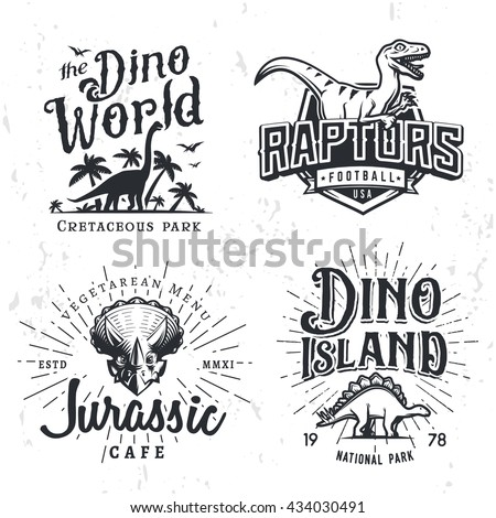 dinosaur vector logo set
