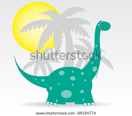 Dinosaurs and palms