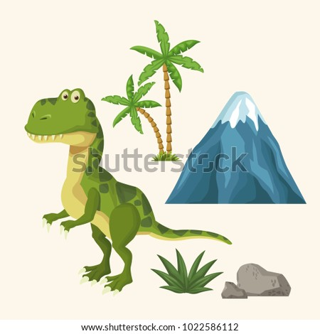 dinosaurs elements cartoon