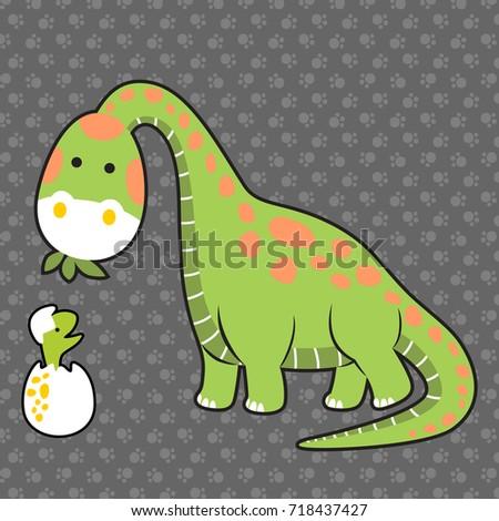 dinosaurs family on footprint