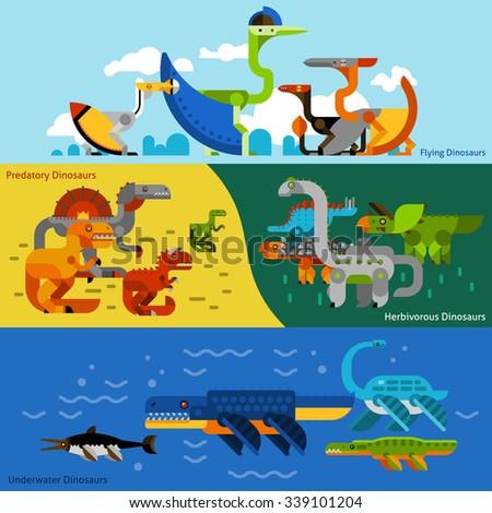 dinosaurs horizontal banners