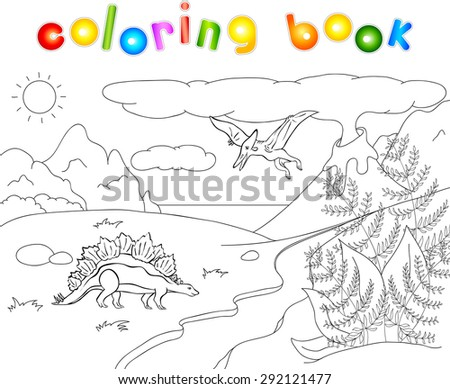 dinosaurs stegosaurus  and