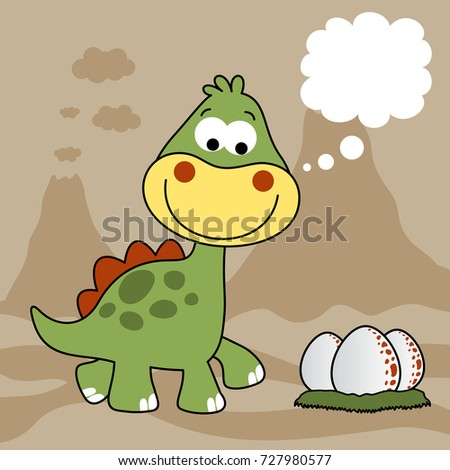 dinosaurs with eggs on