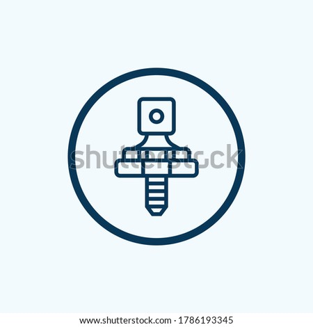 diode icon isolated on white background from electrician tools and elements collection. diode icon trendy and modern diode symbol for logo, web, app
