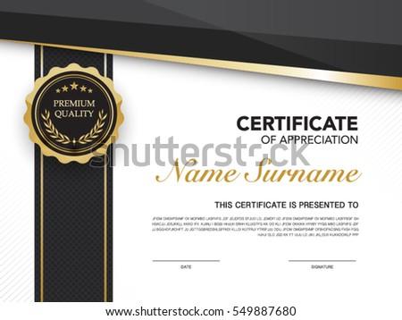 Elegant Luxury Modern Certificate Design Template Download Free
