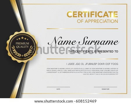 certificate template luxury and diploma colorful design download