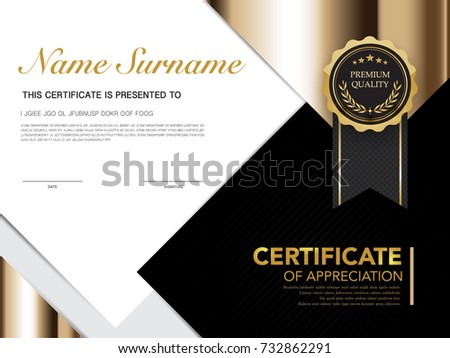 Picnetz Diploma Certificate Template Black And Gold Color With