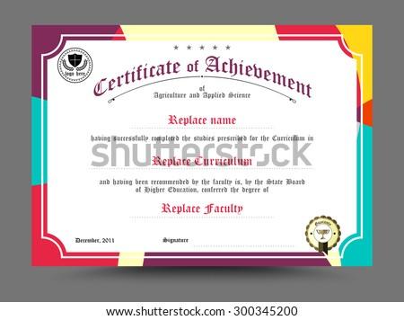 Diploma certificate template design. vector illustration.