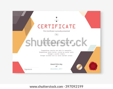 Abstract geometric certificate template design download free diploma certificate template design with international print scale a4 a5 vector illustration yelopaper Images