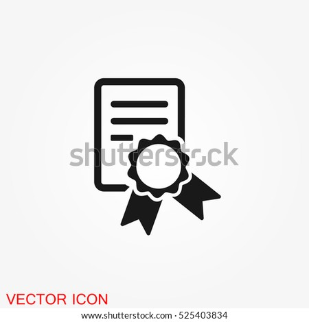 Diploma Educator graduation icon illustration