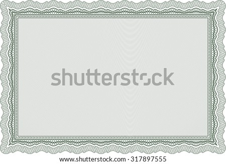 Diploma. Elegant design. With great quality guilloche pattern. Vector pattern that is used in money and certificate.