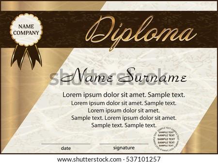 Beautiful Certificate Template Design Download Free Vector Art