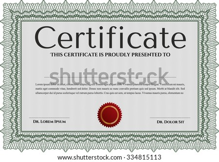 Diploma or certificate template. Vector pattern that is used in money and certificate.Artistry design. With linear background.