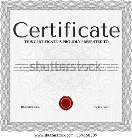 Diploma template. Modern design. Border, frame.Complex background.