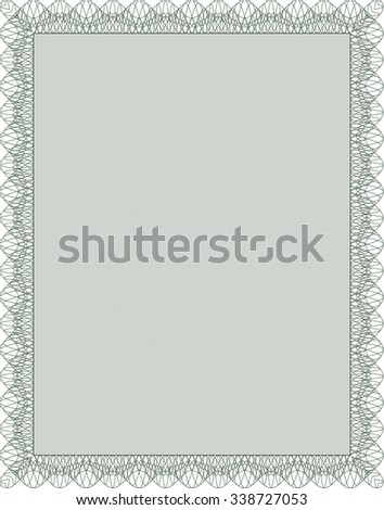 Diploma template or certificate template. Complex background. Superior design. Frame certificate template Vector.
