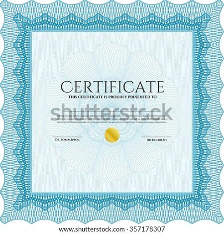 Diploma template or certificate template. Vector illustration.Modern design. Printer friendly.