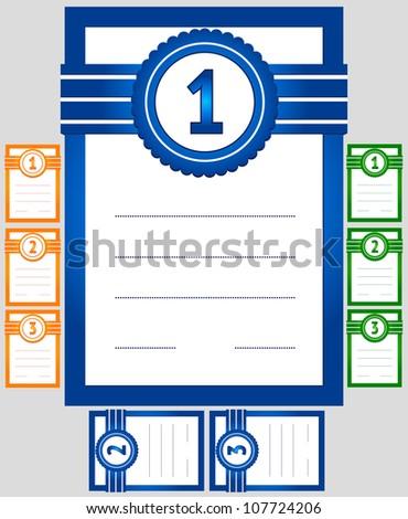 diploma, three color combinations