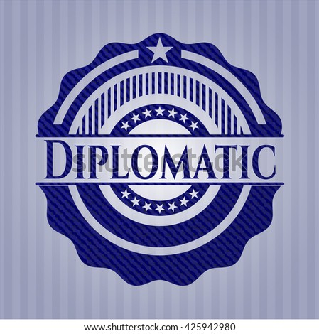 Diplomatic emblem with jean high quality background