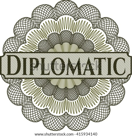 Diplomatic inside a money style rosette