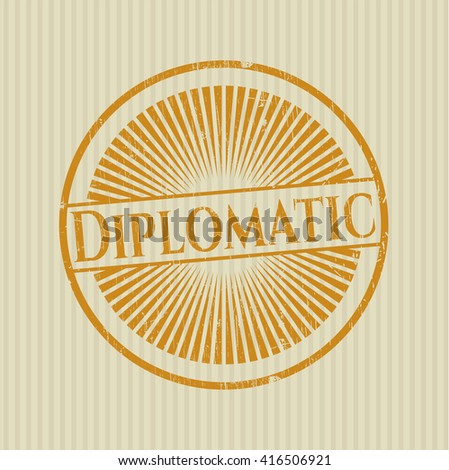 Diplomatic rubber grunge seal