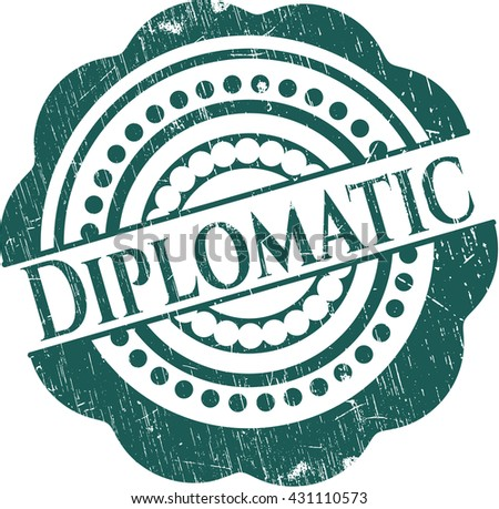 Diplomatic rubber grunge texture stamp