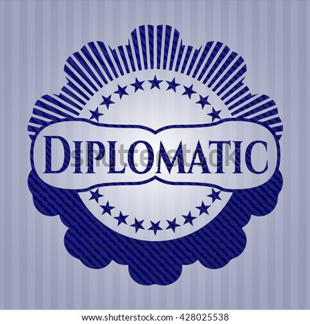 Diplomatic with denim texture