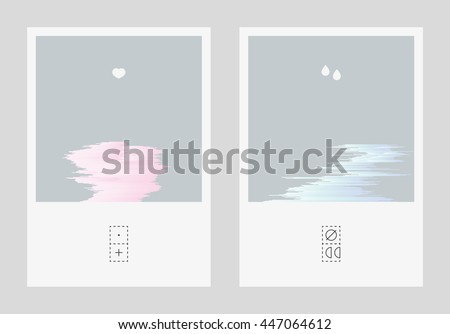 diptych illustration with mild