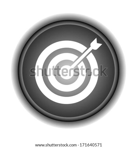 Direct hit. Target and arrow - Vector icon