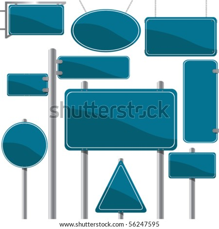 Direction and advertise signs, vector