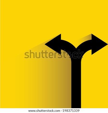 direction arrow sign, decision making concept