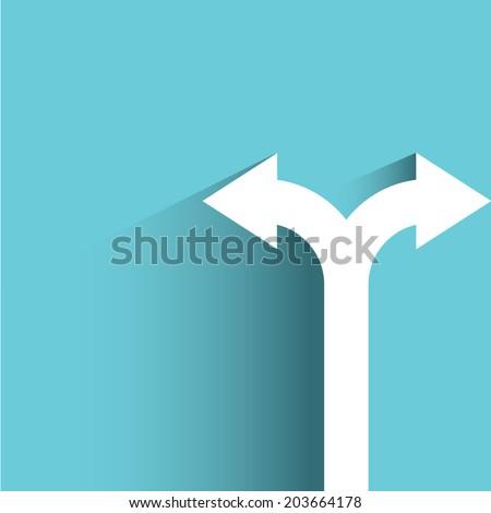 direction arrow sign  decision