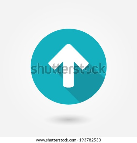 Direction arrow up icon isolated