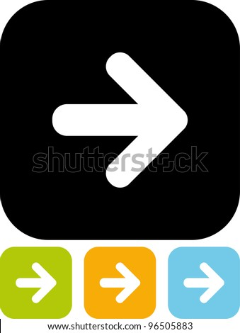 Direction arrow Vector icon isolated