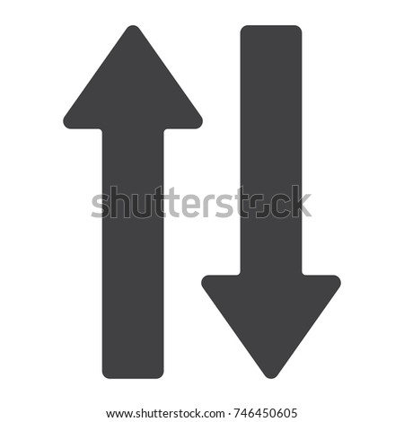 Direction arrows glyph icon, web and mobile, up and down sign vector graphics, a solid pattern on a white background, eps 10.