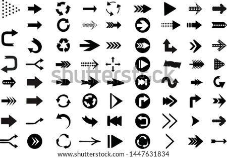 direction arrows, pointing arrows, direction signs