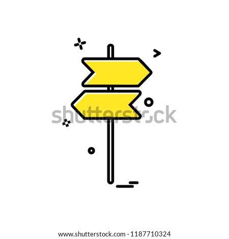 Direction board icon design vector