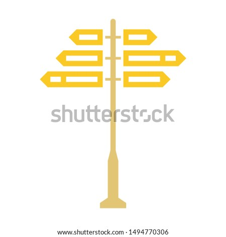 direction icon. flat illustration of direction - vector icon. direction sign symbol